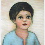 Ritratto di bimba - olio, carboncino - 45x55cm