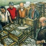 Il pesce azzurro - olio, carboncino - 60x70