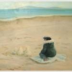I castelli di sabbia - olio - 40x50cm