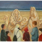 Il presepe di sabbia - olio - 60x70cm