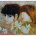 Bambine con narcisi