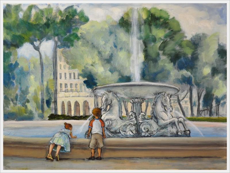 Bimbi alla fontana