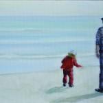 uomo e bambino rosso al porto_webdef